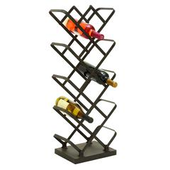 "Barware Metal Wine Holder 30""H, 12""W"
