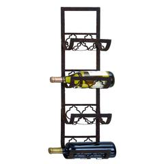 "Wine Racks - Metal Wall Wine Rack 28""H, 8""W"