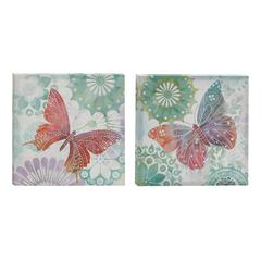 Benzara Simple And Soulful Canvas Art Set Of 2
