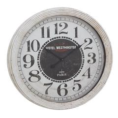 Benzara Appealing Wood Wall Clock