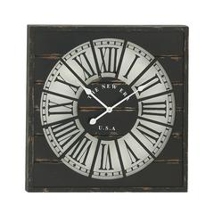 "Stunning Wood Wall Clock 27""D"