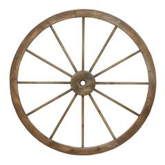 Benzara Metal Wagon Wheel With Intricate Detailed Work