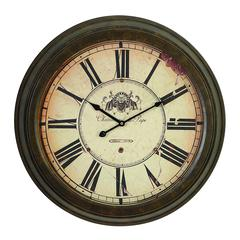 Metal Wall Clock Dial Makes It Real Antique