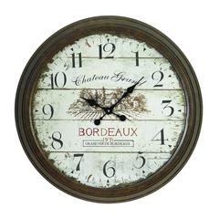 Metal Wall Clock With Dial Face Of 1971 Bordeaux Clock