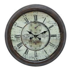 Benzara Long Lasting Metal Wall Clock For Trendy Look