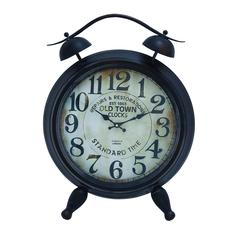 Benzara Table Clock With Arabic Numbers & Alarm System