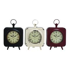 Attractive Styled Yangtze Metal Table Clock 3 Assorted