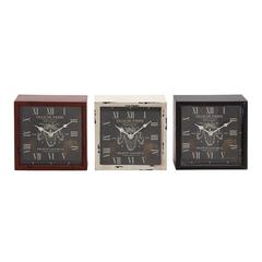 Vintage Styled Huangpu Metal Table Clock 3 Assorted