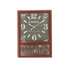 Contemporary Styled Metal Calendar Wall Clock