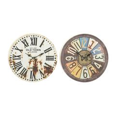 Benzara Assorted 2 Prepossessing Metal Wall Clock