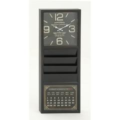 Benzara Remarkably Styled Metal Calendar Clock