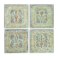 "Benzara Metal Wall Decor 4 Assorted 16""H, 16""W Wall Decor"