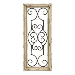 "Wood Metal Wall Panel 25""H, 10""W Wall Decor"