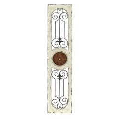 """Wood Metal Wall Panel 58""""H, 12""""W Wall Decor"""