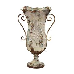 Durable Metal Vase With Antique Magnificence