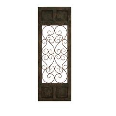 Wood Metal Wall Panel In Dark Brown Color With Classic Style