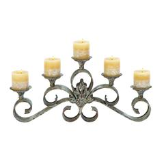 "Metal Candle Holder 23""W, 11""H"