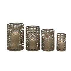 Benzara Set Of 4 Radiating & Unique Styled Metal Candle Holder