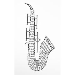Metal Saxophone With Round Shaped Small Glasses