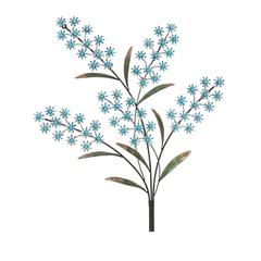 Fascinating Blue Flower Metal Acrylic Wall Decor