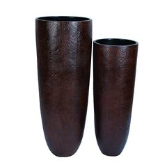 Vase With Wider Rim And Narrow Base - Set Of 2