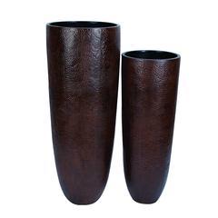 Benzara Vase With Wider Rim And Narrow Base - Set Of 2