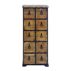 Benzara Antiqued Dresser With Natural Wooden Shade