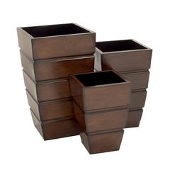 Stylish And Uniquely Designed Metal Planter Set Of 3