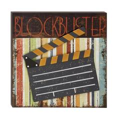 Benzara Decorative Wood Metal Movie Plaque