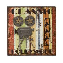 Extraordinary Wood Metal Movie Plaque