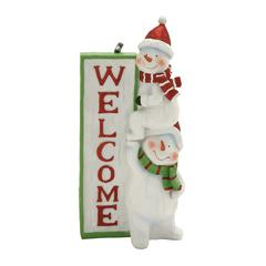 Scintillating Snowman Welcome Sign