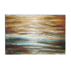 Textured Painting Of Vivid Lines And Waves