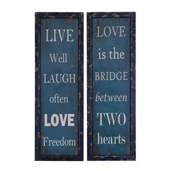 Benzara Life And Love Wall Plaque And Décor
