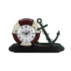Benzara Durable Metal Table Clock With Sophisticated Style