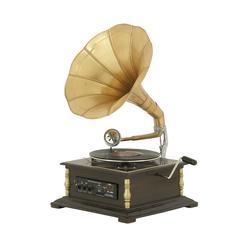 Benzara Antique And Classy Metal Wood Gramophone