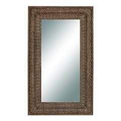 Benzara Brown Color Polyurethane Frame Mirror 90 Inches High