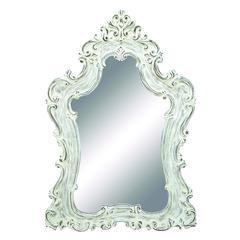 Benzara Mirror In Silver Color With Traditional Design