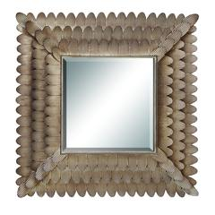 "Benzara Wall Accent Mirrors- Metal Mirror 35""W, 34""H"