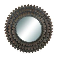 "Wall Accent Mirrors- Metal Mirror 34""D"