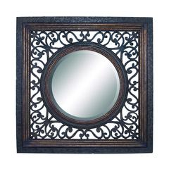 Benzara Frame Mirror In Glossy Finish With Artistic Design