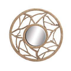 Benzara The Stunning Wood Wall Mirror