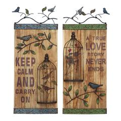 Benzara Wall Art Assorted Durable And Long Lasting - Set Of 2