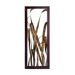 Benzara Rustic Metal Leaf Wall Art