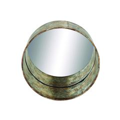 Wall Mirror With Rustic Metal Finish