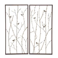 Mesmerizing Styled Metal Wall Décor 2 Assorted