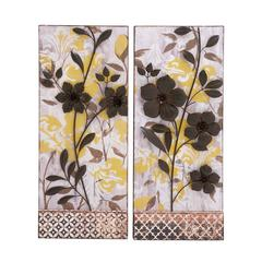 Classy Styled Metal Wall Décor Two Assorted