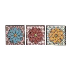 The Unbeatable Metal Wall Flower 3 Assorted
