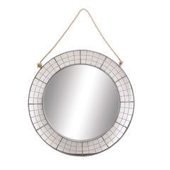 Benzara The Round Metal Wall Mirror