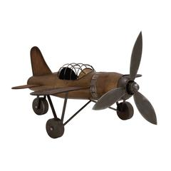 Rustic Finish Contemporary Styled Metal Plane