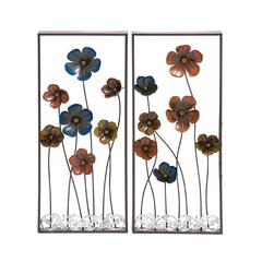 Beautiful Styled Metal Wall Décor 2 Assorted